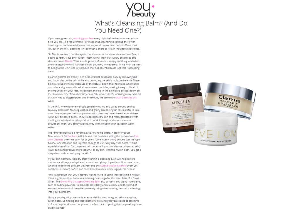 Elemis pro-collagen balm -YouBeauty.com - January 16, 2014