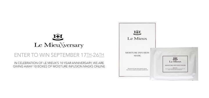 Le Mieux Skincare 10 year anniversary giveaway