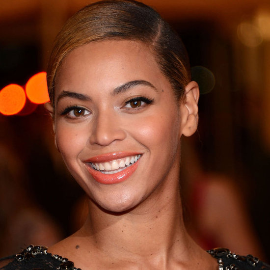 Beyonce wearing Are those real at the Met Ball 2012
