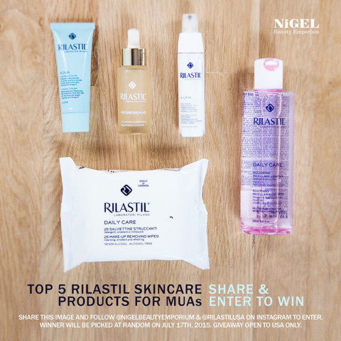 Enter to win Top 5 Rilastil Skincare Products for MUAs